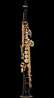 Selmer  Super Action 80 Series II B-flat Soprano Saxophone Black Lacquer Engraved Gold Lacquered Keys (NG GO)